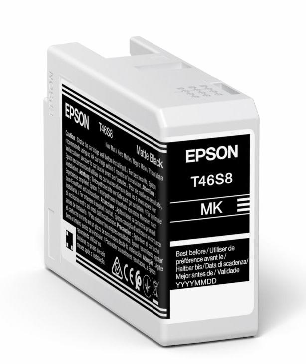 Original Epson T46S8 Matte Black Inkjet Cartridge C13T46S800