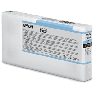 Original Epson T9135 Light Cyan Inkjet Cartridge (C13T913500)