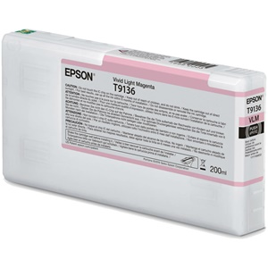 Original Epson T9136 Light Magenta Inkjet Cartridge (C13T913600)