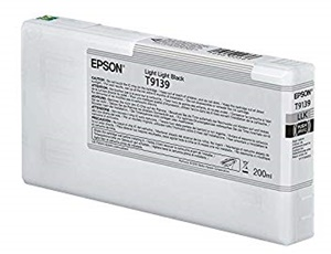 Original Epson T9139 Light Light Black Inkjet Cartridge (C13T913900)