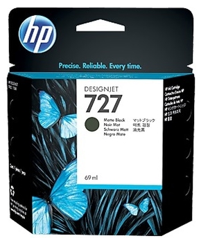 Original HP 727 Matt Black Ink Cartridge (C1Q11A)