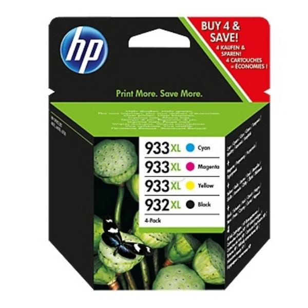 HP Original 932XL/933XL Combo Pack - Black/Cyan/Magenta/Yellow, 4-pack