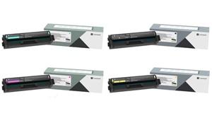 Original Lexmark C3220 4 Colour Toner Cartridge Multipack (Black/Cyan/Magenta/Yellow)