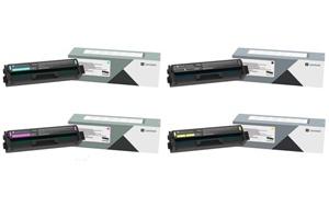 Original Lexmark C332H 4 Colour High Capacity Toner Cartridge Multipack (Black/Cyan/Magenta/Yellow)
