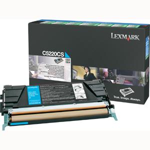 Original Lexmark C5220CS Cyan Toner Cartridge