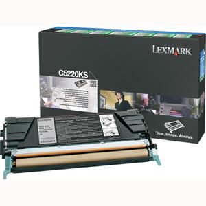 Original Lexmark C5220KS Black Toner Cartridge