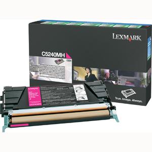 Original Lexmark C5240MH Magenta Toner Cartridge