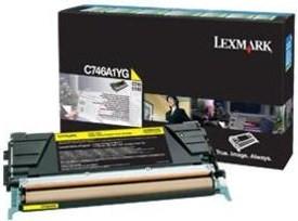 Lexmark Original C746A1YG Yellow Toner Cartridge