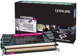 Lexmark Original C748H1MG Magenta High Capacity Toner Cartridge