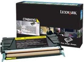 Lexmark Original C748H1YG Yellow High Capacity Toner Cartridge