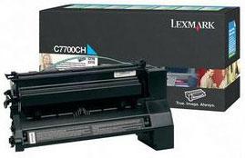 Original Lexmark C7700CH Cyan Toner Cartridge