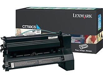 Original Lexmark C7700CS Cyan Toner Cartridge