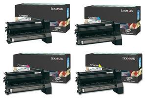 Lexmark Original C7700 High Capacity Toner Cartridge Multipack (Black/Cyan/Magenta/Yellow)