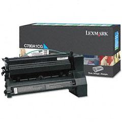 Original Lexmark C780A1CG Cyan Toner Cartridge