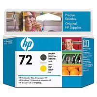 HP Original Printhead  No. 72 Matte Black and Yellow