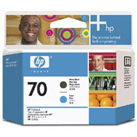 HP Original Printhead No. 70 Matte Black and Cyan Printhead