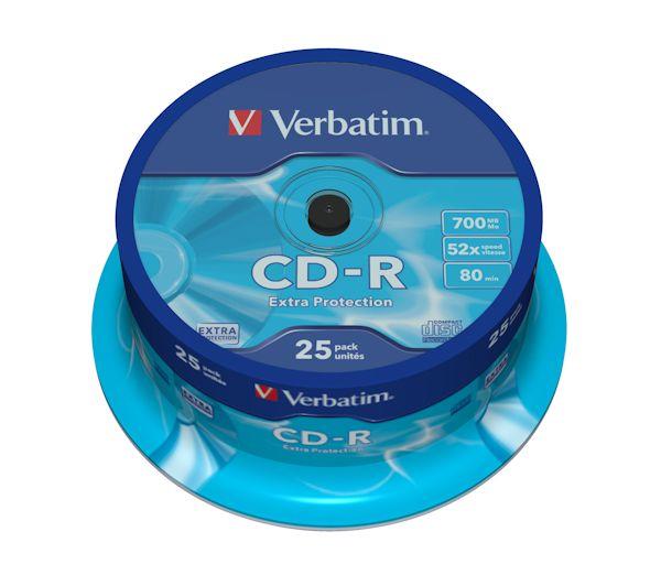 Verbatim CD-R - 52x - 700MB  - 25 Pack
