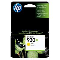 HP Original 920XL Yellow High Capacity Ink Cartridge (CD974AE)