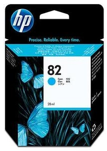 Original HP 82 Cyan Ink Cartridge (CH566A)