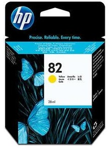 Original HP 82 Yellow Ink Cartridge (CH568A)