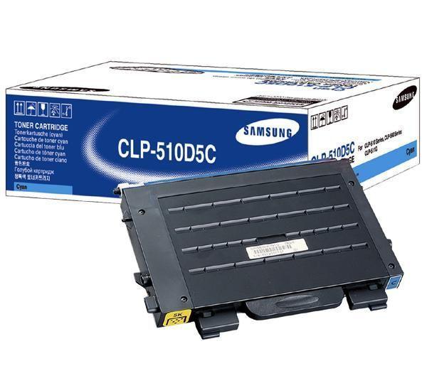 Original Samsung CLP-510D5C Cyan Toner Cartridge