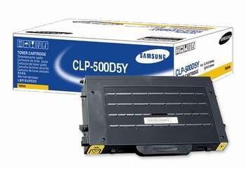 Original Samsung CLP500D5Y Yellow Toner Cartridge