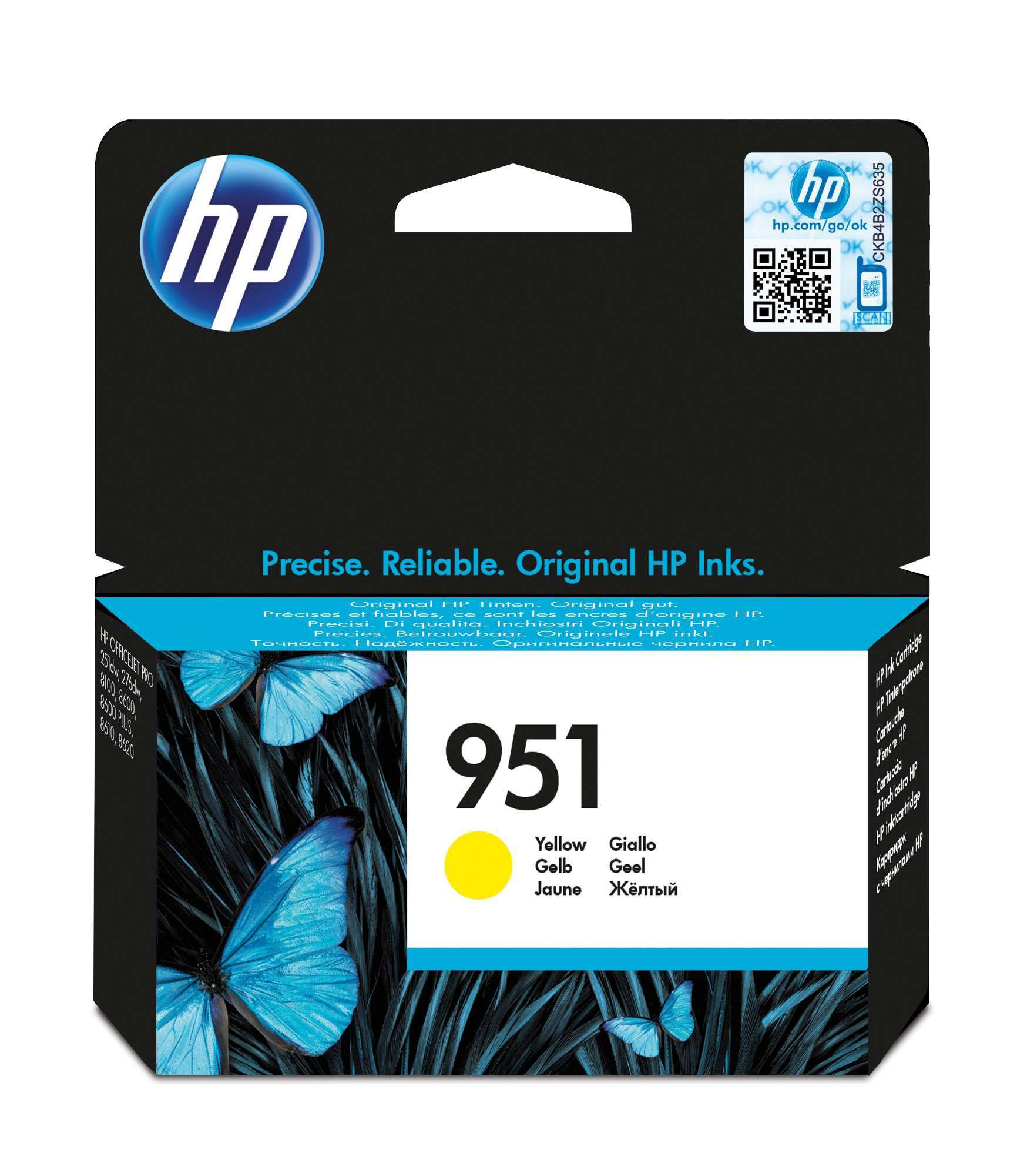 HP Original 951 Yellow Ink Cartridge CN052AE