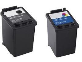 Dell GM720/YY640 Black & DR747/UN398 Colour Remanufactured Ink Cartridges (SERIES 10)