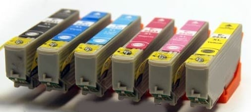 Compatible Epson 24XL High Capacity Ink Cartridges Full Set T2431/T2432/T2433/T2434/T2435/T2436 (Black/Cyan/Magenta/Yellow/Light Cyan/ Light Magenta)