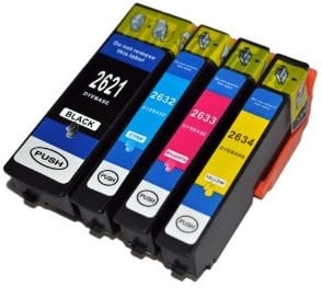 Compatible Epson 26XL High Capacity Ink Cartridges Set of 4 (Black/Cyan/Magenta/Yellow)
