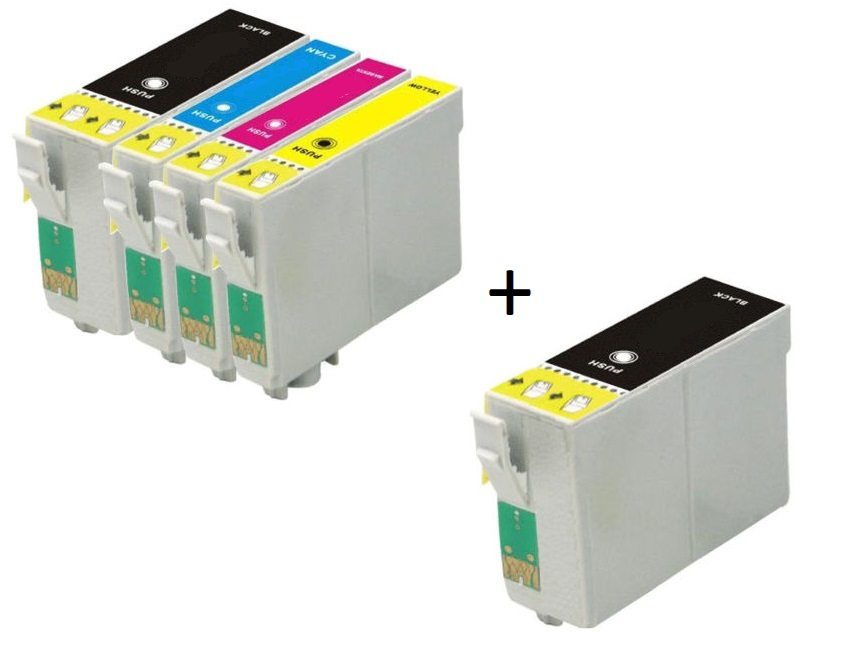 Compatible Epson 35XL High Capacity Ink Cartridges Full Set + EXTRA BLACK - (2 x Black, 1 x Cyan, Magenta, Yellow)