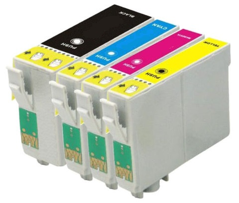Compatible Epson 35XL High Capacity Ink Cartridges Full Set - (Black, Cyan, Magenta, Yellow)