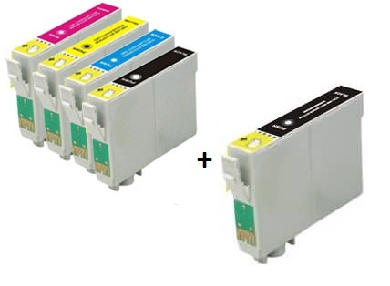 Epson Compatible 502XL High Capacity Ink Cartridges Full Set + EXTRA BLACK - (2 x Black, 1 x Cyan, Magenta, Yellow)