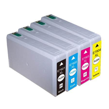 Compatible Epson 79XL Full Set of High Capacity Ink Cartridges Black/Cyan/Magenta/Yellow