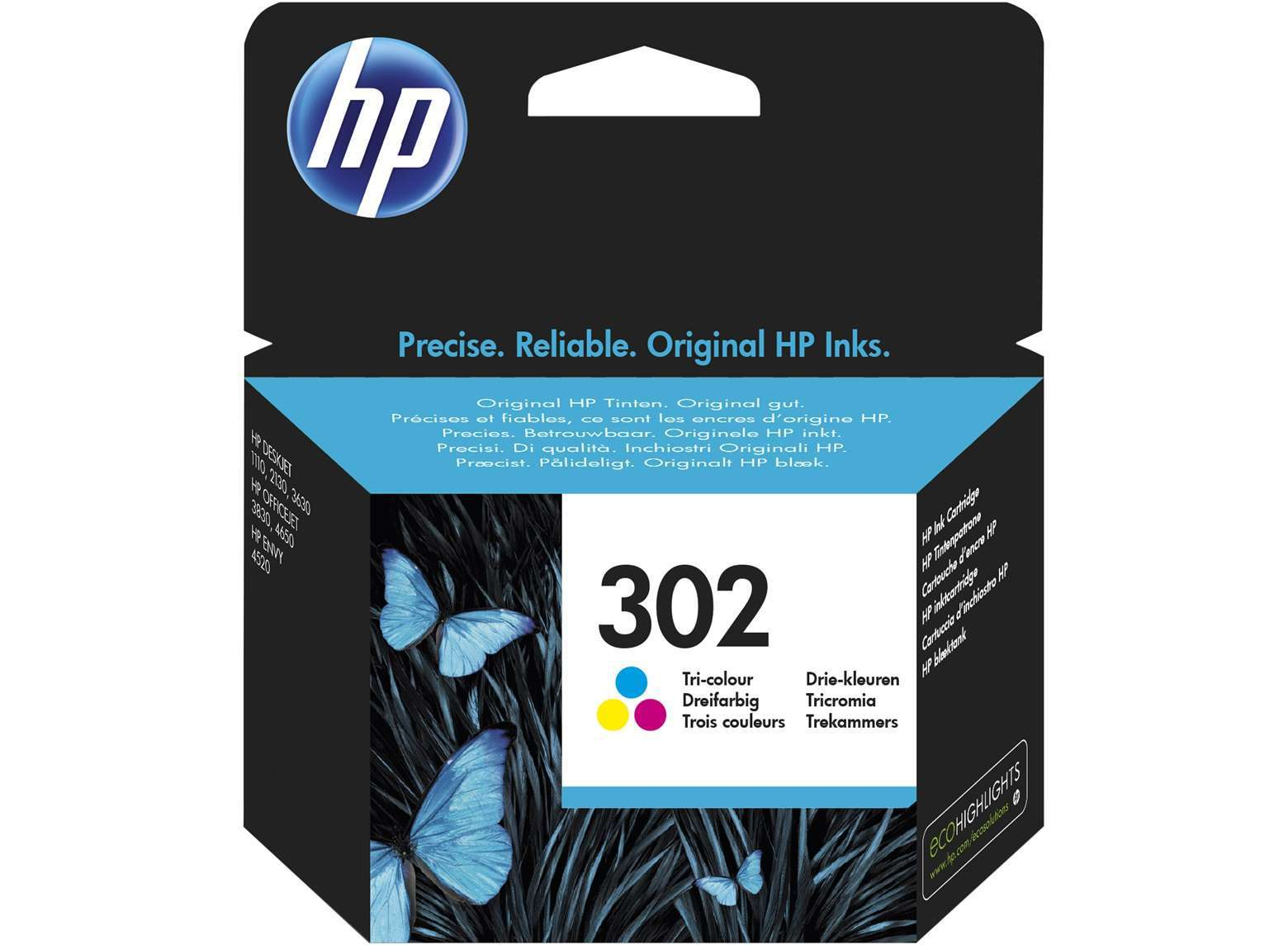 HP Original 302 Colour Ink Cartridge (F6U65AE)