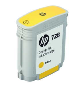 Original HP 728 Yellow Inkjet Cartridge (F9J61A)