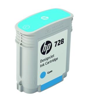Original HP 728 Cyan Inkjet Cartridge (F9J63A)