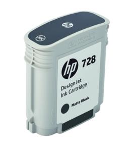 Original HP 728 Matt Black Inkjet Cartridge (F9J64A)