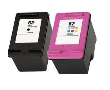 Remanufactured HP 62 Black (C2P04AE) & 62 Colour (C2P06AE) High Capacity Ink Cartridges
