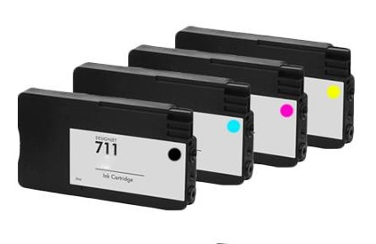 Compatible HP 711 set of 4 Ink Cartridges Black/Cyan/Magenta/Yellow