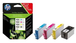 HP Original 920XL Multipack of 4 BK/C/M/Y Ink Cartridges (C2N92AE)
