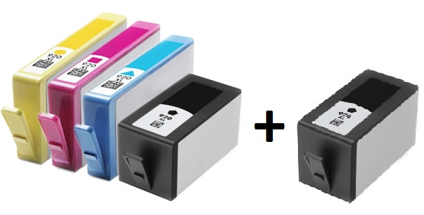 Compatible HP 920XL Full set of Ink Cartridges + EXTRA BLACK  (2 x Black 1 x Cyan/Magenta/yellow)