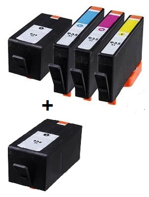 Compatible HP 934XL/935XL Full set of Ink Cartridges + EXTRA BLACK  (2 x Black 1 x Cyan/Magenta/yellow)