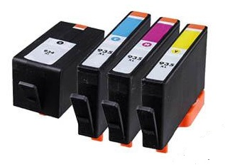 Compatible HP 934XL/935XL Full set of Ink Cartridges - Black/Cyan/Magenta/yellow