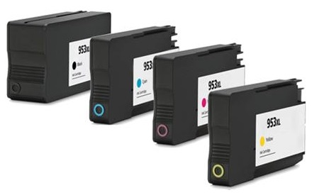 Compatible HP 953XL Full set of 4 Ink Cartridges - Black/Cyan/Magenta/Yellow