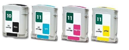 Compatible HP 10/11 Full Set Of 4 Ink Cartridges (Black/Cyan/Magenta/Yellow)