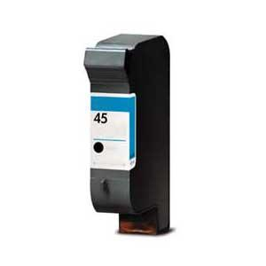 Remanufactured HP 45 (51645AE) High Capacity Black 42ml Ink Cartridge