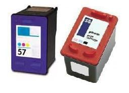 Remanufactured HP 58 (C6658AE) High Capacity Photo and HP 57 (C6657Ae) High Capacity Colour Ink Cartridges