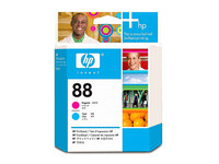HP Original Printhead No. 88 Magenta and Cyan C9382A