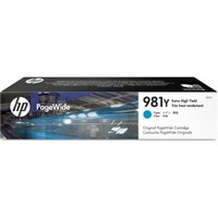 Original HP 981Y Cyan Extra High Capacity Inkjet Cartridge (L0R13A)